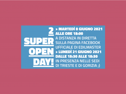 VIRTUAL OPEN DAY + OPEN DAY IN PRESENZA